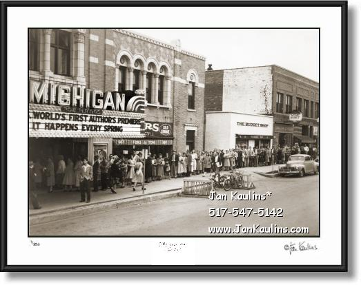 Old Ann Arbor Michigan Theater  photo print 1948