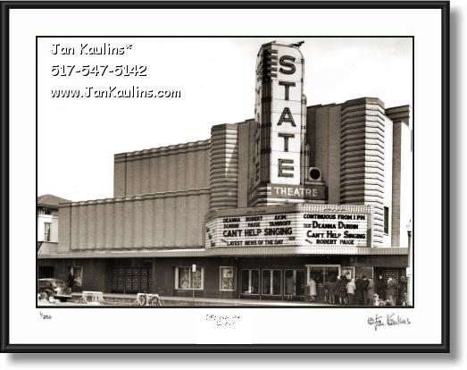 Click on this image to see an enlarged view of Old ANN ARBOR STATE THEATER photo art print.