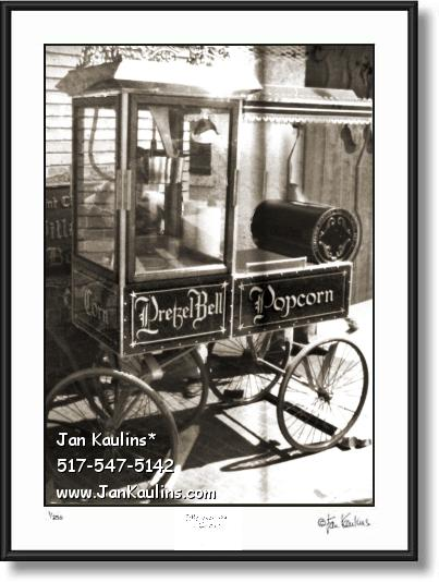 Click on this image to see an enlarged view of PRETZEL BELL ANN ARBOR old photo art print.
