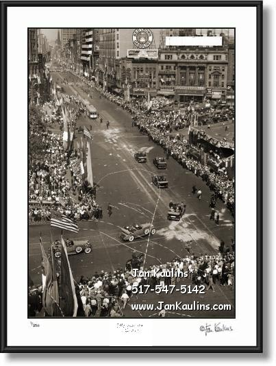 Click on this image to see an enlarged view of President Hoover Parade Detroit 1931 photo print.