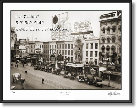 Click on this image to see an enlarged view of MONROE STREET THEATER DISTRICT Detroit photo.