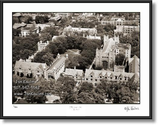 Click on this image to see an enlarged view of UofM LAW QUAD Old Ann Arbor photo art print.