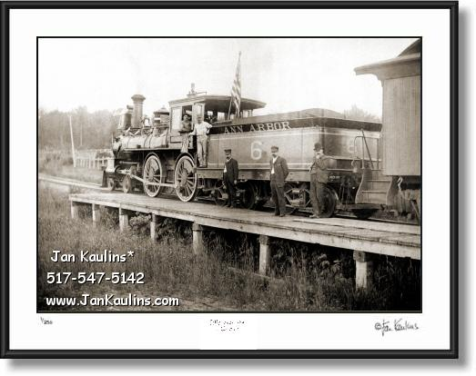 Click on this image to see an enlarged view of VINTAGE ANN ARBOR Locomotive photo print.