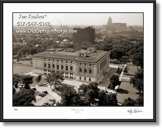 Click on this image to see an enlarged view of VINTAGE DETROIT PUBLIC LIBRARY photo print.