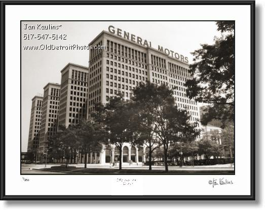 Click on this image to see an enlarged view of OLD GENERAL MOTORS BUILDING Detroit photo.