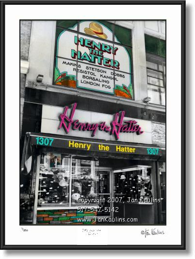 Click on this image to see an enlarged view of HENRY THE HATTER photo picture art print.