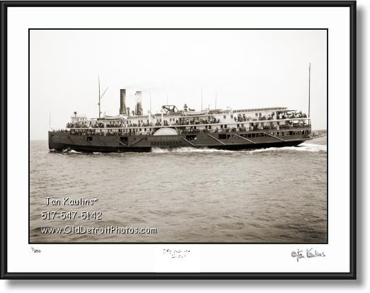 CITY OF St. IGNACE Great Lakes Steamer photo