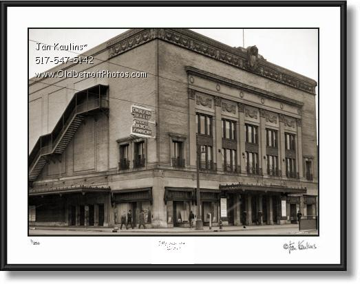Click on this image to see an enlarged view of ORCHESTRA HALL Detroit 1939 photo print.