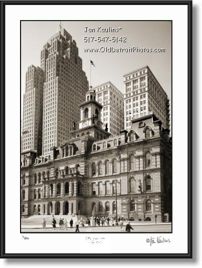 Click on this image to see an enlarged view of OLD DETROIT CITY HALL photo picture print.