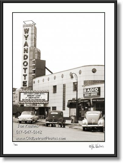 WYANDOTTE THEATER PHOTO picture print photo