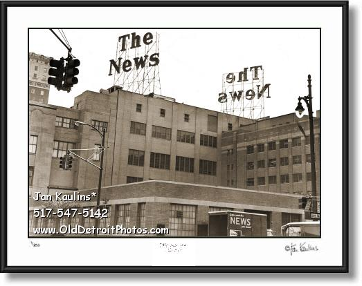 Old DETROIT NEWS BUILDING photo picture print