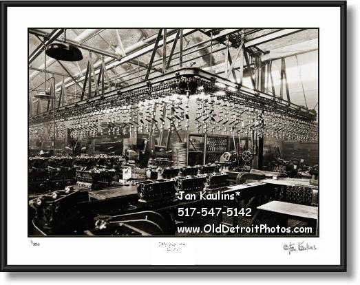 FORD ENGINE ASSEMBLY LINE 1919 photo print