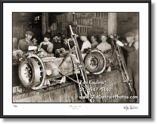 FORD AXEL ASSEMBLY LINE 1923 photo print