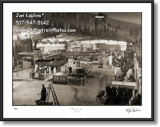 Click on this image to see an enlarged view of DETROIT AIRCRAFT SHOW 1932 photo print.