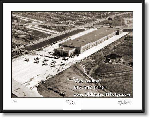 Click on this image to see an enlarged view of Old DETROIT CITY AIRPORT 1932 photo print.