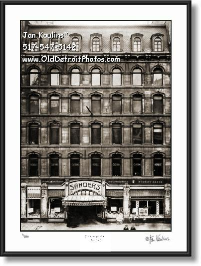 Click on this image to see an enlarged view of Vintage SANDERS Chocolates photo picture print.