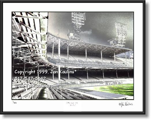 Click on this image to see an enlarged view of DETROIT TIGER STADIUM empty photo print art.