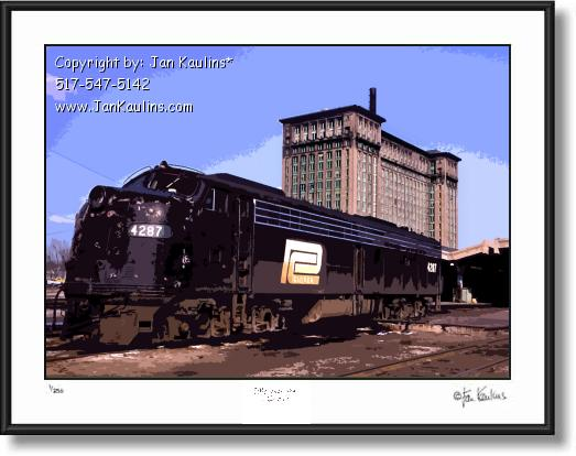 Click on this image to see an enlarged view of MICHIGAN CENTRAL STATION photo art print.