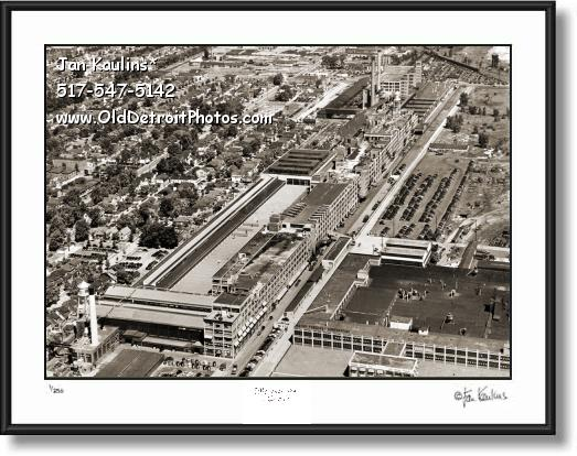 Click on this image to see an enlarged view of MACK AVENUE CHRYSLER PLANT photo print.