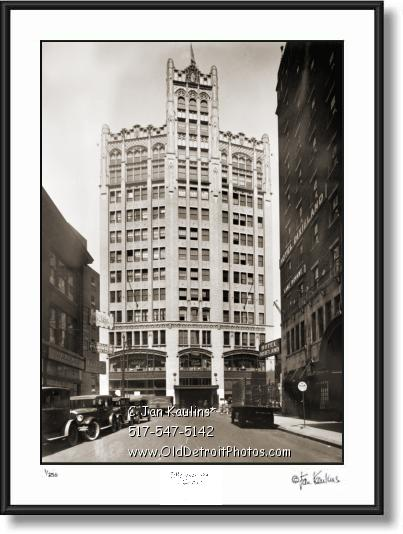 Click on this image to see an enlarged view of METROPOLITAN BLDG Detroit 1926 photo print.