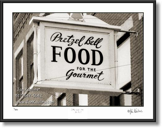 Click on this image to see an enlarged view of ORIGINAL PRETZEL BELL Ann Arbor photo .
