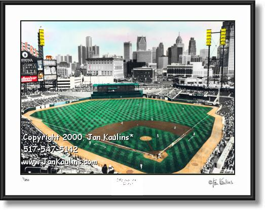 Click on this image to see an enlarged view of COMERICA PARK photo print Comerica Park photo.