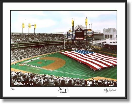 COMERICA PARK photo picture print Opening Day