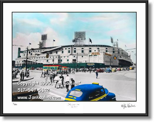Briggs Stadium photo Briggs Stadium art print
