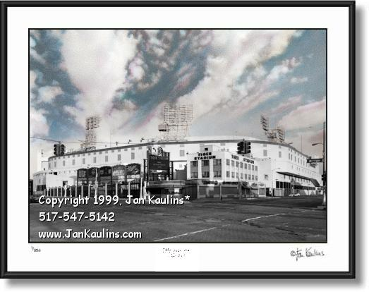 TIGER STADIUM Detroit picture photo 1912-1999