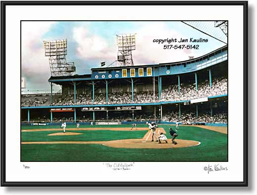 Click on this image to see an enlarged view of Detroit Tiger Stadium photo THE OLD BALLPARK.