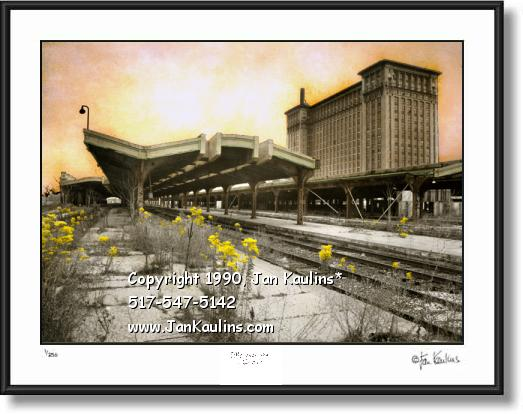 Click on this image to see an enlarged view of MICHIGAN CENTRAL STATION Detroit Photo print.