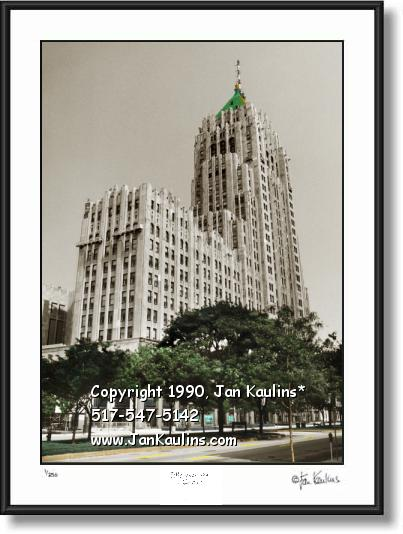 Click on this image to see an enlarged view of Fisher Building Detroit Art Photo print picture.