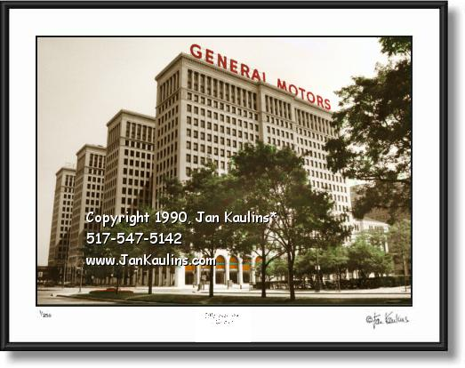 Click on this image to see an enlarged view of Old General Motors Building photo Detroit picture.