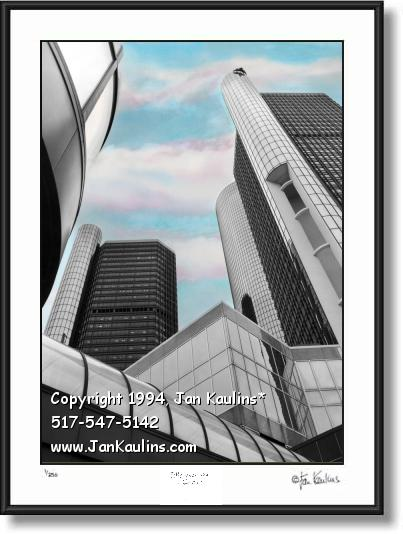 Renaissance Center Detroit RenCen print photo
