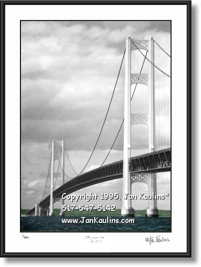 MACKINAC BRIDGE photo picture art print photo