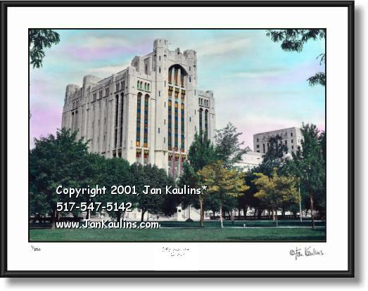 Click on this image to see an enlarged view of Masonic Temple Detroit picture print art photo.