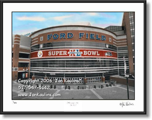 SUPERB0WL XL FORD FIELD photo picture print