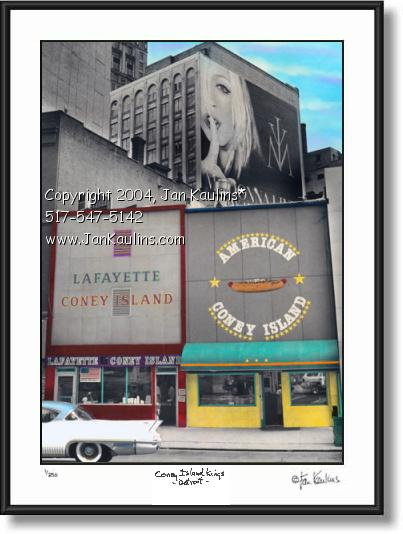 Click on this image to see an enlarged view of LAFAYETTE CONEY ISLAND photo picture art print.