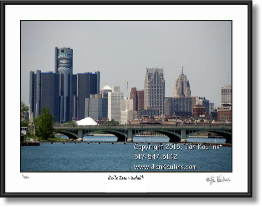 Detroit skyline photo picture Belle Isle