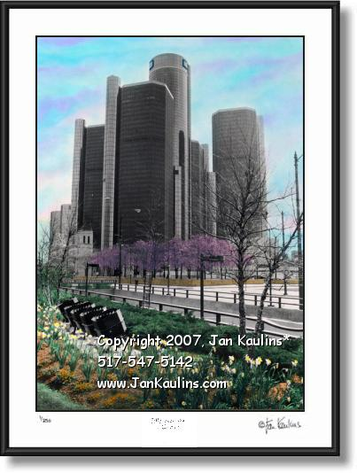 Click on this image to see an enlarged view of GM World Headquarters GM picture photo print.