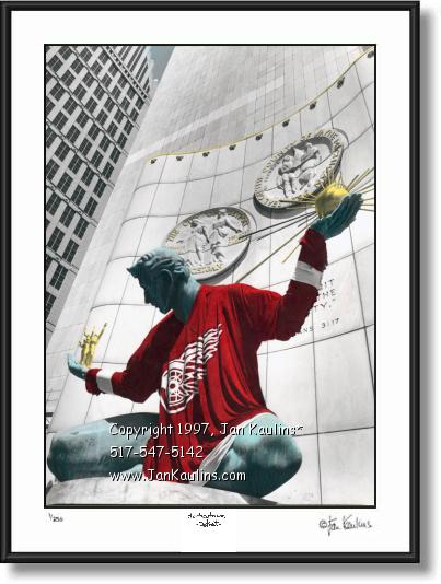 Spirit of Detroit photo picture Detroit Red Wings