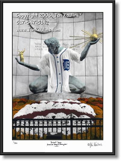 Spirit of Detroit Tigers Jersey photo print 2006