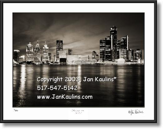 DETROIT SKYLINE photo print Detroit skyline