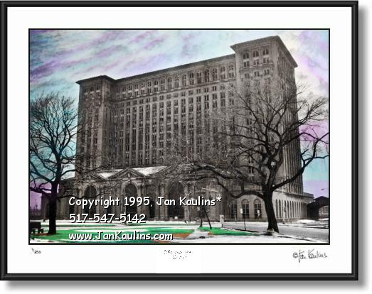 Click on this image to see an enlarged view of Michigan Central Depot photo print Detroit photo.