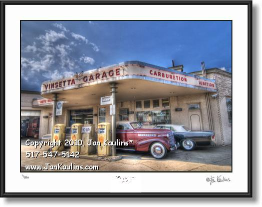 Click on this image to see an enlarged view of VINSETTA GARAGE photo art print photo picture.