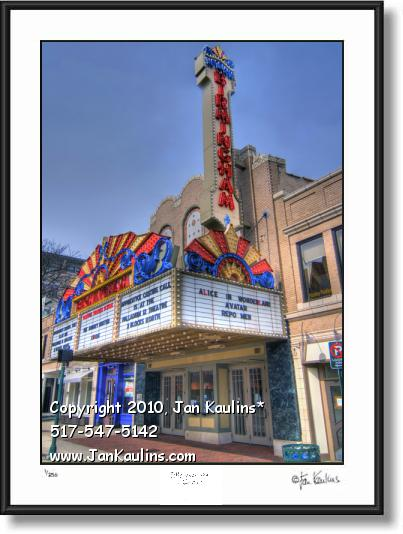 Click on this image to see an enlarged view of BIRMINGHAM MI THEATRE photo fine art print.