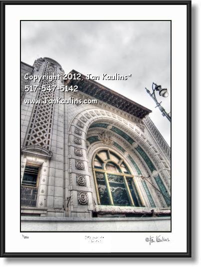 Click on this image to see an enlarged view of NATIONAL THEATER DETROIT photo picture print.
