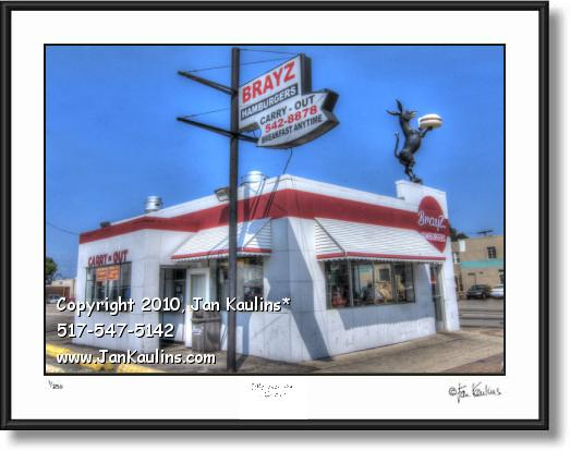 Click on this image to see an enlarged view of BRAYZ HAMBURGERS picture photo art print.