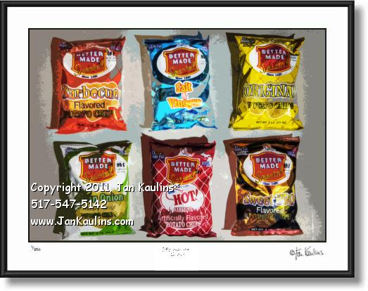 Click on this image to see an enlarged view of BETTER MADE POTATO CHIPS photo picture print.