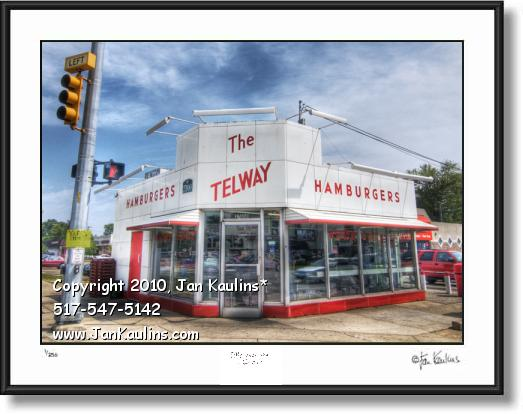 Click on this image to see an enlarged view of TELWAY BURGERS 11 Mile photo art print Telway.